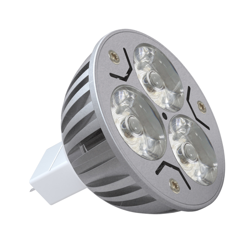 1 ks LED žárovka - patice MR16 3W, 3x1W, 12V