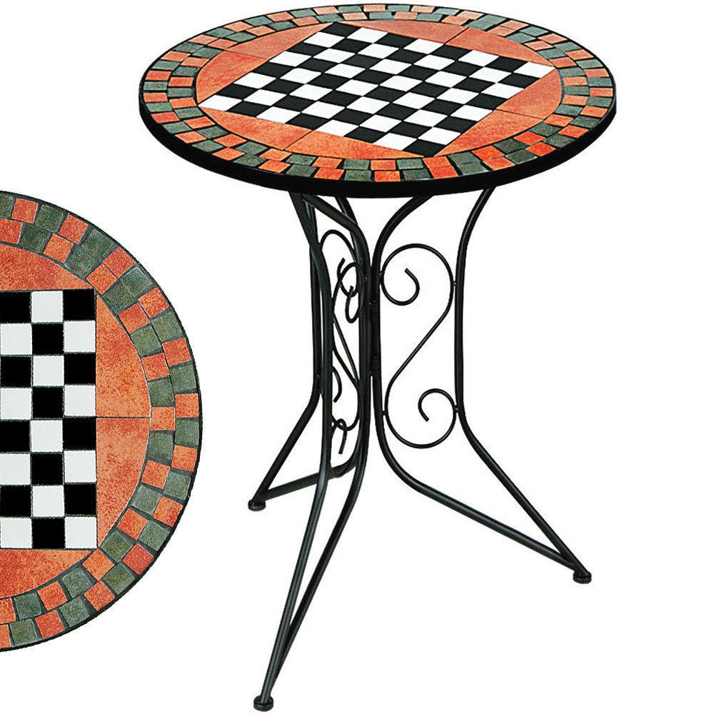Mozaikový šachový stolek