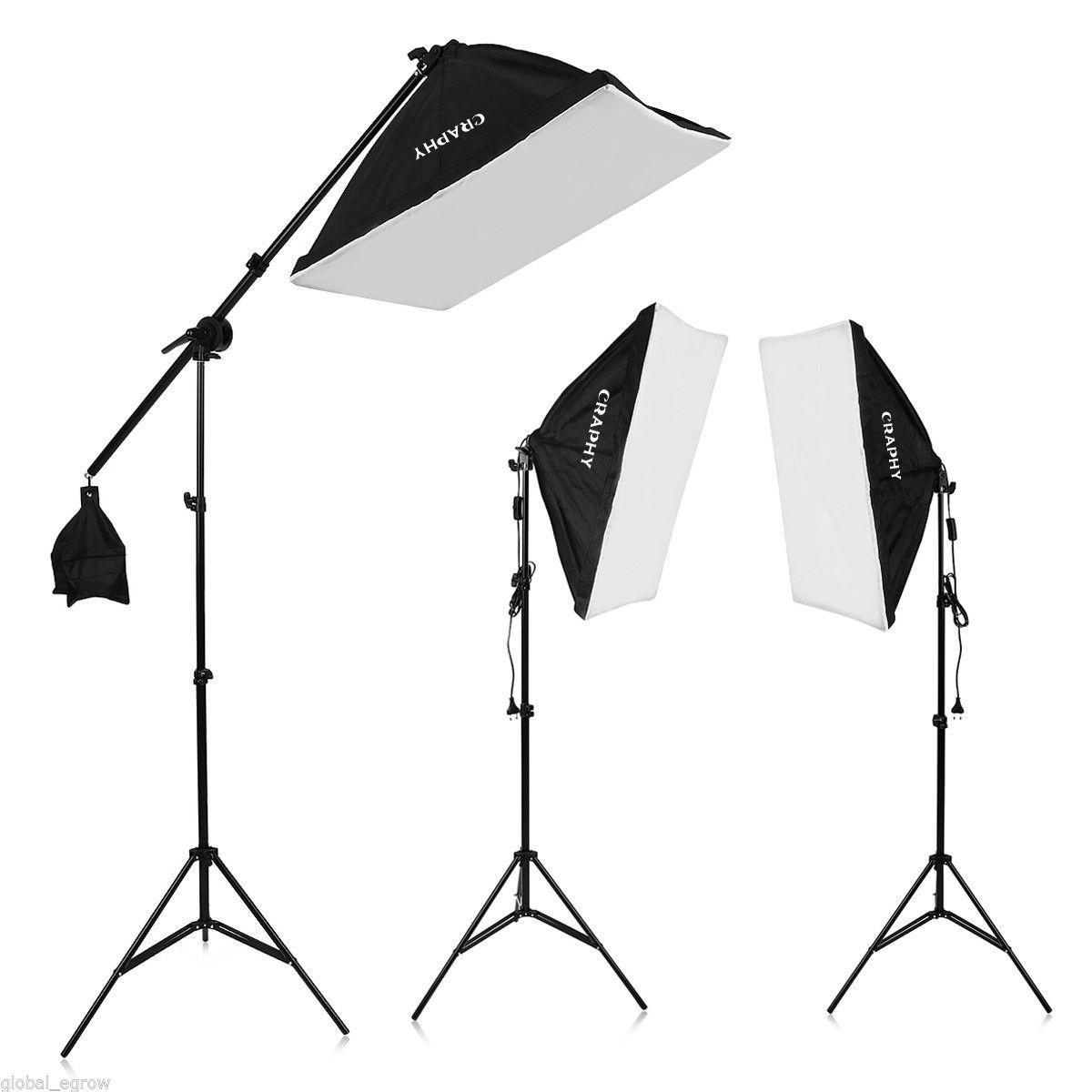 Kompletní studiový set: 3x softbox + 3x stativ lampa + 3x 105W úsporná zářivka